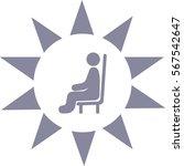 man sits icon