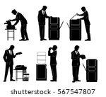 vector illustration of a six... | Shutterstock .eps vector #567547807