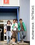 portrait of teenagers walking...   Shutterstock . vector #56756161