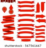 illustration of red ribbons | Shutterstock .eps vector #567561667