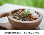 healthy superfood vegan... | Shutterstock . vector #567573793