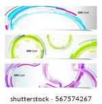 set of abstract colorful web... | Shutterstock .eps vector #567574267