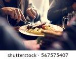 people eat food meal restaurant | Shutterstock . vector #567575407