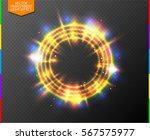 abstract semitransparent golden ... | Shutterstock .eps vector #567575977