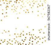gold glitter background polka... | Shutterstock .eps vector #567582367