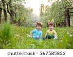 catholic easter tradition egg... | Shutterstock . vector #567585823