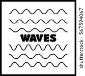 waves outline icon  modern... | Shutterstock .eps vector #567594067