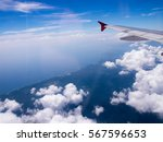 Aircraft Wing With Bluesky Fro...