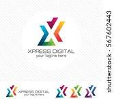colorful letter x logo design...
