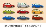 set of cars. collection vehicle.... | Shutterstock .eps vector #567604747