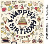 poster for the birthday... | Shutterstock .eps vector #567608263