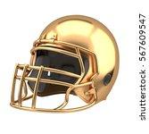 golden american football helmet ... | Shutterstock . vector #567609547