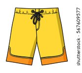 swimming trunks icon in cartoon ... | Shutterstock .eps vector #567609577