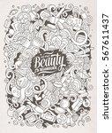 cartoon cute doodles hand drawn ... | Shutterstock .eps vector #567611437