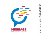 message   speech bubble vector... | Shutterstock .eps vector #567618253