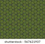 decorative geometric seamless... | Shutterstock .eps vector #567621937
