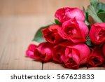 Close Up Beautiful Red Roses...