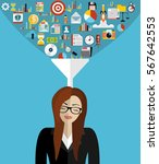 flat design concepts big data...   Shutterstock .eps vector #567642553