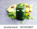 Green Spinach Avocado Smoothie...