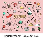 hand drawn set of cartoon... | Shutterstock .eps vector #567654463