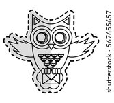 owl cartoon icon | Shutterstock .eps vector #567655657
