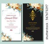 wedding invitation  thank you... | Shutterstock .eps vector #567673297