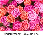 a bouquet of pink roses made of ...   Shutterstock . vector #567685423