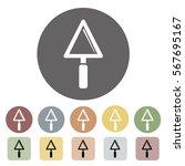 plasterer icon set.vector... | Shutterstock .eps vector #567695167