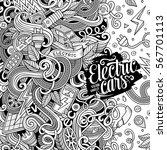 cartoon cute doodles hand drawn ... | Shutterstock .eps vector #567701113