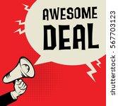 megaphone hand business concept ... | Shutterstock .eps vector #567703123