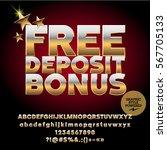 vector golden casino icon free...   Shutterstock .eps vector #567705133
