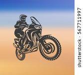 motocross enduro race driver... | Shutterstock .eps vector #567711997