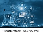 industry 4.0 concept  smart... | Shutterstock . vector #567722593