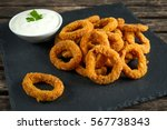 Fried Breaded Onion Rings With...