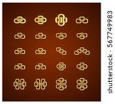 isolated set of sixteen vector...