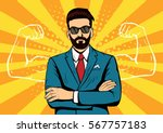 Hipster Beard Businessman With...
