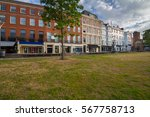 several old houses. street in... | Shutterstock . vector #567758713