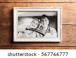 photo of seniors in picture... | Shutterstock . vector #567766777