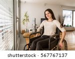 Young Disabled Woman In...