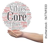 conceptual core values... | Shutterstock . vector #567769333