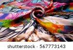 Photo Silk Fabric. Silk Scarf...