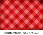 Red Folded Diagonal Tartan...