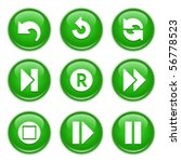 Green Glossy Buttons 29