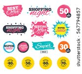 sale shopping banners. special... | Shutterstock .eps vector #567794857