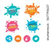 best offer and sale splash... | Shutterstock .eps vector #567795637