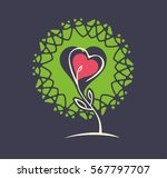 plant sprout symbol with a... | Shutterstock .eps vector #567797707