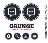 grunge post stamps. chat sign...   Shutterstock .eps vector #567797767