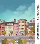 illustration flats in the city | Shutterstock . vector #567800983