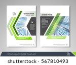 green annual report brochure...   Shutterstock .eps vector #567810493