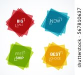 vector colorful banners set.... | Shutterstock .eps vector #567810637